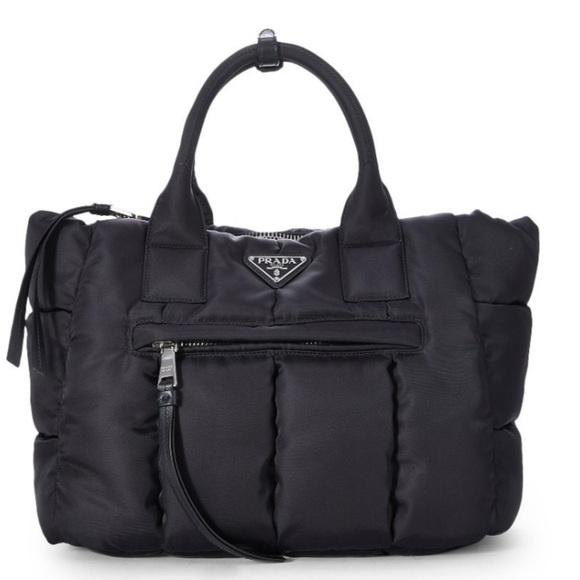 ee963a8f3824 Prada Bags | Tessuto Bomber Tote In Black | Poshmark